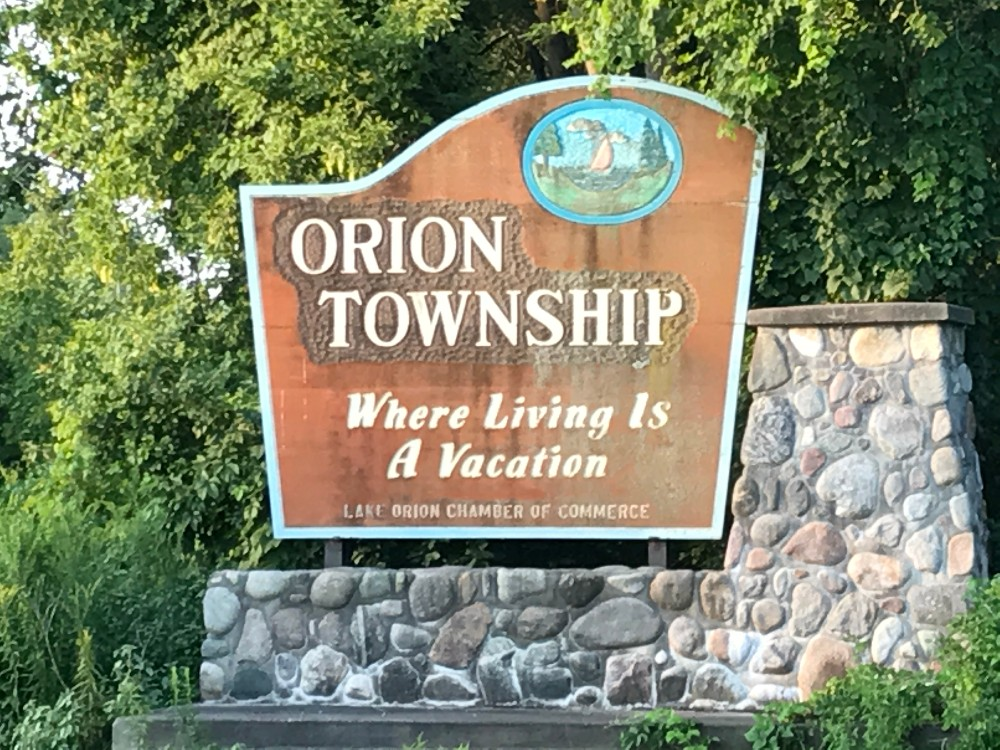 Orion Township sign